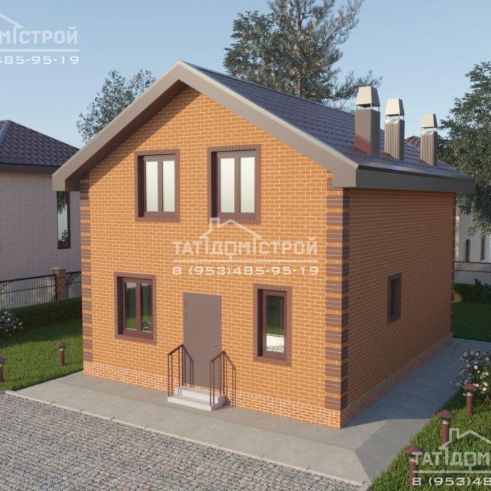 Кирпичный дом 117 м2