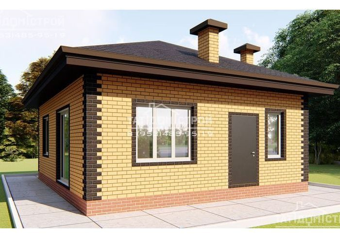 60м2 проект кирпичного дома